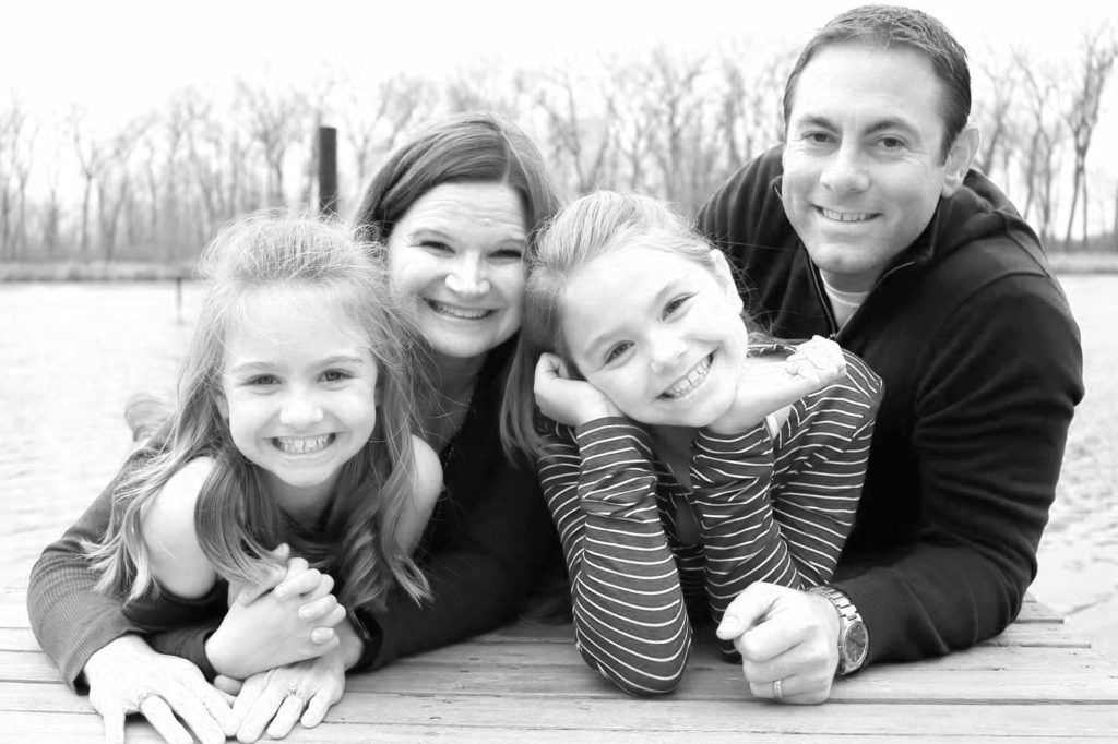 Dave Pepin's Family - Black and White
